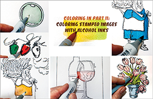 Coloring Stamped Images with Alcohol Ink Markers Like Copic