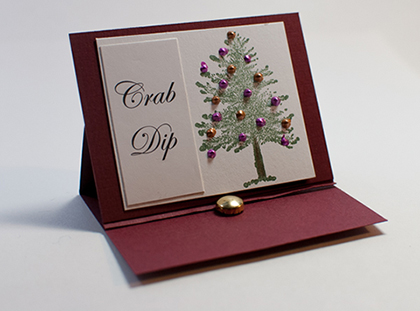 Mini Easel Holiday Place Cards