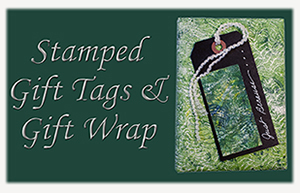 Stamped Gift Tags & Gift Wrap eArticle