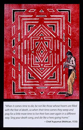 Native American Brayered Card