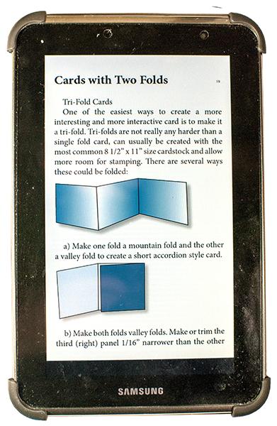 epub eArticle on Tablet Aldiko Reader