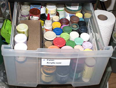 My Paint and Marker Storage