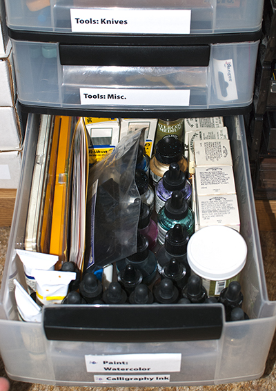 Watercolor Storage Drawer