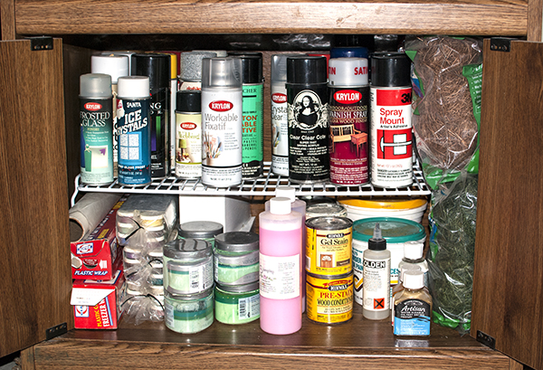 my spray paint and fixative storage dye pigment paper. Black Bedroom Furniture Sets. Home Design Ideas