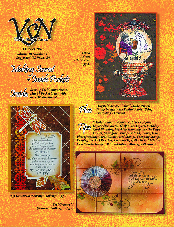 Vamp Stamp News October 2010 Front Cover