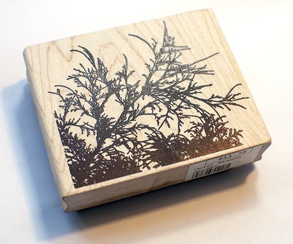 Magenta Cedar Branch Stamp