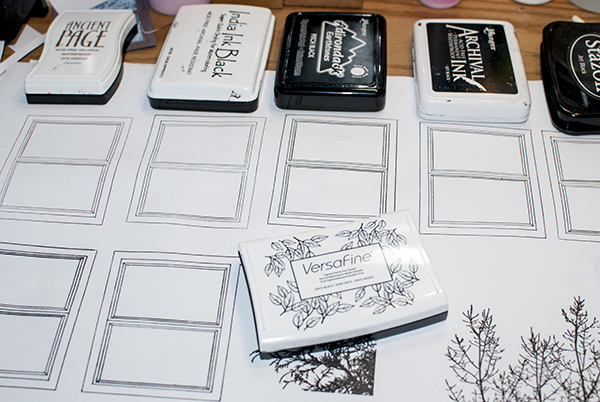 Stamping Window with Different Inkpads