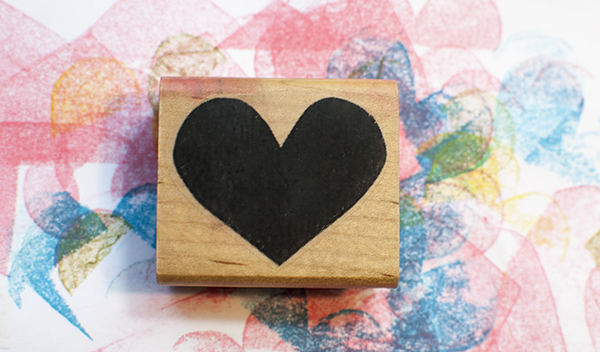 Rubber Stamp Plantation heart stamp