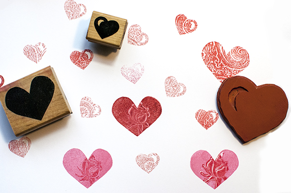 Solid Heart Stamps