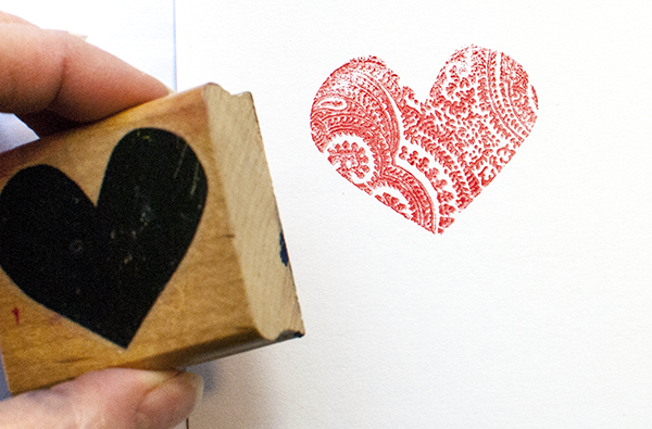 Stamp Solid Patterned Heart