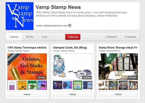 VSN Pinterest Page