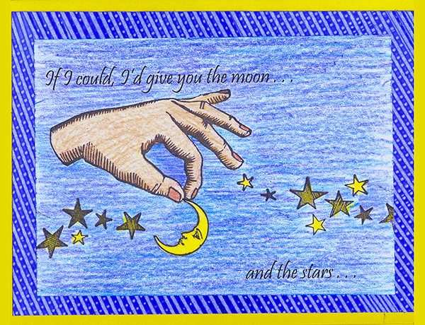 Moon and the Stars Card
