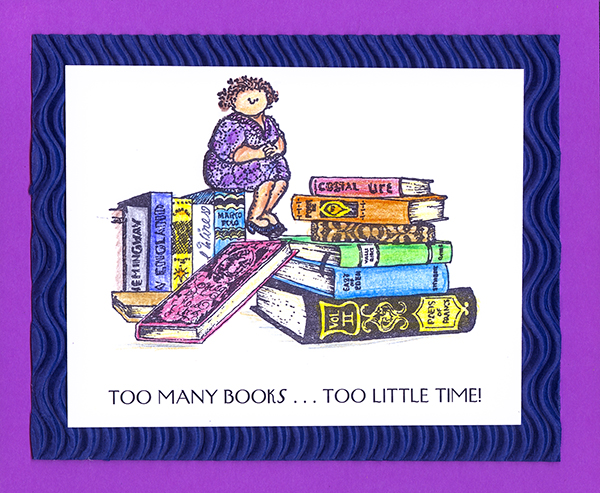 Too Many Books Card