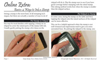 4 Ways to Ink a Stamp Basics VSN eArticle First Page