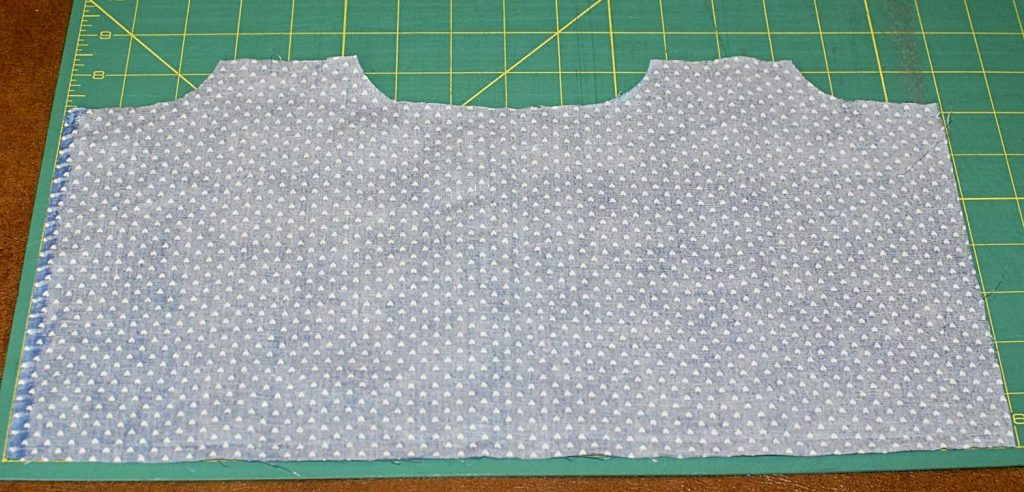 Fabric Cut For Face Mask With Added Curves